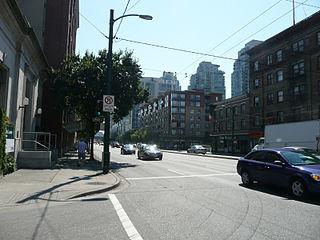 major road in Vancouver, British Columbia