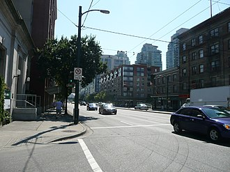 Main Street (Vancouver) - Main Street at Prior Street, looking south.