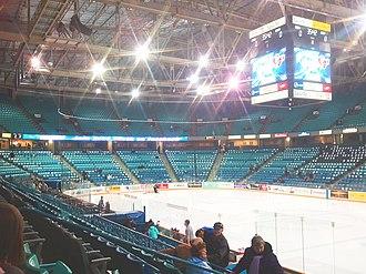 SaskTel Centre - The interior of SaskTel Centre prior to a Saskatoon Blades game.