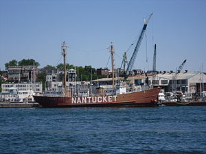 United States lightship Nantucket (LV-112) - Image: 2011 boston harbor nantucket 1