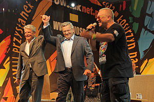 Woodstock Festival (Poland) - Presidents Bronisław Komorowski and Joachim Gauck at Woodstock Festival Poland 2012