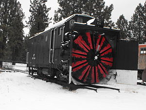 Train Mountain Railroad - Image: 20120220 Steam Rotary Snowblower at Train Mountain