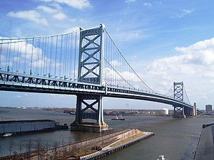 Philadelphia Register of Historic Places - Image: 2012 Ben Franklin Bridge and Race Street Pier