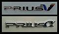2012 Prius v & Alpha badges.jpg