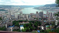The Yangtze River / Three Gorges reservoir at Wanzhou