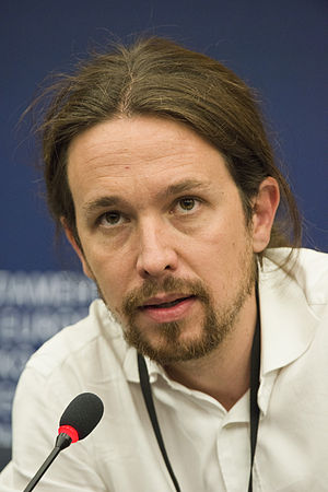 Left-wing populism - Pablo Iglesias, leader of Podemos