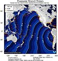 2014 Iquique earthquake NOAA tsunami travel time projection 2014-04-01.jpg