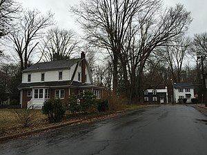 Wilburtha, New Jersey - Homes at the intersection of Blackwood Drive and Wilburtha Road in the Wilburtha section of Ewing, New Jersey