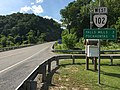 2017-06-11 16 47 47 View west along Virginia State Route 102 (College Avenue) at Puritan Road just northwest of Bluefield in Tazewell County, Virginia.jpg