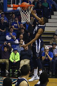 57926dbdefc9 Bridges dunking against DePaul in 2017