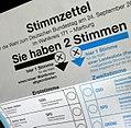 2017 German federal election Wahlzettel zur Bundestagswahl im WK 171.JPG