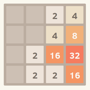 2048 (video game) - A game of 2048 in progress