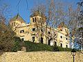 204 Les Quatre Torres, pg. Antoni Borrell 1 (Alella), des del parc Gaudí.jpg