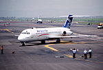 250ff - Aerocaribe DC-9-31, XA-TXG@MEX,24.07.2001 - Flickr - Aero Icarus.jpg