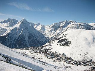 Les Deux Alpes Ski resort in France