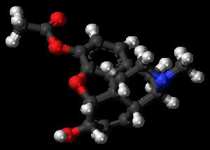 3-Monoacetylmorphine - Image: 3 Monoacetylmorphine molecule ball