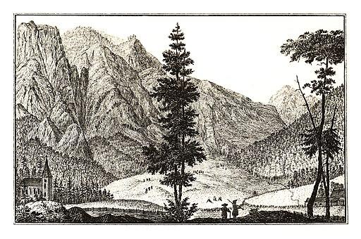 324 St. Leonhardt im Weichselboden, Gußwerk - J.F.Kaiser Lithografirte Ansichten der Steiermark 1830
