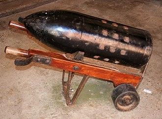 RML 12.5 inch 38 ton gun - Image: 38 ton gun shell Hurst Castle