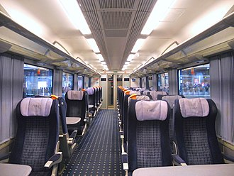 British Rail Class 444 - The interior of First Class aboard South West Trains