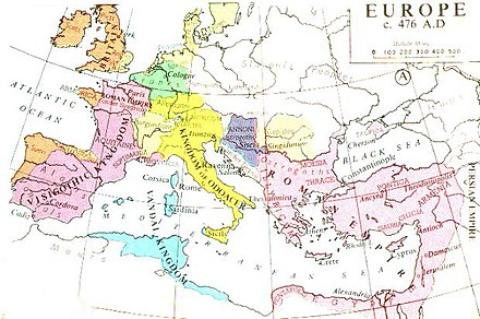The Byzantine Empire in 476 - History of Palestine