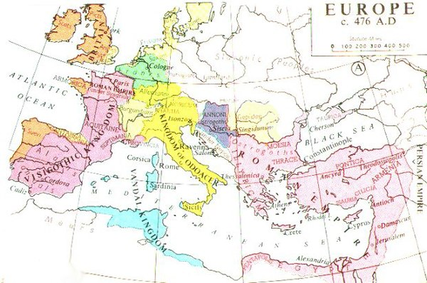 Europe in 476, from Muir's Historical Atlas (1911) 476eur.jpg