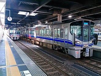 Hokuriku Main Line - A 521 series EMU on the Hokuriku Main Line, April 2018