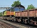66846 (and 66 number 169) Sydenham to Hoo Junction up yard (14029760777).jpg