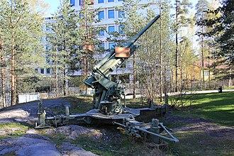 76 mm air defense gun M1931 - Image: 76 It K 31 Tuulimäki 2
