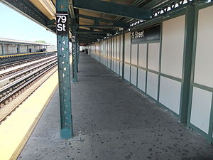 79th Street (BMT West End Line) - Image: 79th Street Platform