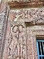 7th century amorous couples in kama mithuna and Vishnu avatar reliefs, Lakshmana Hindu temple, Sirpur Chhattisgarh India 5.jpg