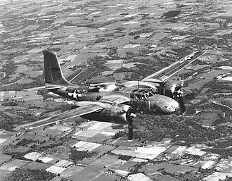 59th Bombardment Squadron - A-26 Invader in flight