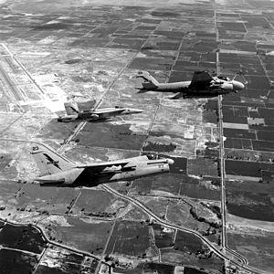 A-7E F-18A and A-6E over NAS Fallon 1987.JPEG