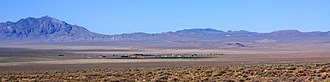 Rachel, Nevada - Panoramic view of Rachel and the surrounding area from the northern boundary of Area 51