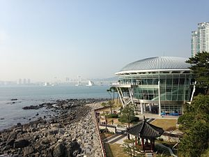 Haeundae District - APEC House and Guangan Bridge