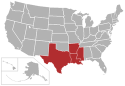 American Southwest Conference locations