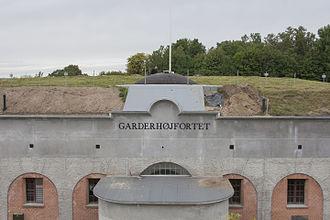 Garderhøj Fort - Facade of the fort.