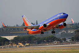 A Boeing 737 of Southwest Airlines takeoff at San Jose International Airport, California, United States (on August 25th 2007)