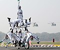 A Dare Devils motorcycle display during the General Officer Commanding-in-Chief of Western Command Parade & Investiture Ceremony, in New Delhi on January 13, 2011 (1).jpg