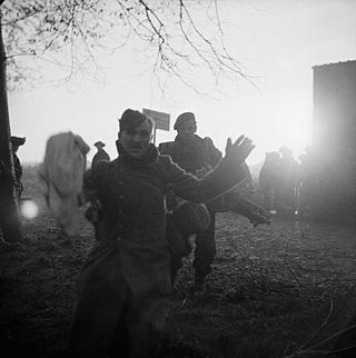 A German POW captured during the Allied assault on Walcheren Island in Holland, November 1944. BU1247.jpg