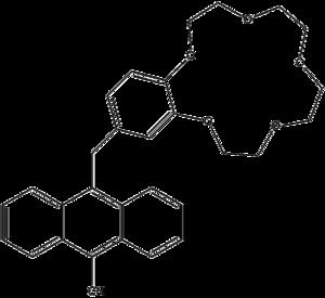 Molecular logic gate - A YES molecular logic gate receptive to sodium ions