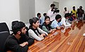 A group of students from Jammu and Kashmir studying in other states, expressing gratitude for addressing their concerns by the Union Home Minister, Shri Rajnath Singh, in New Delhi on September 08, 2016.jpg