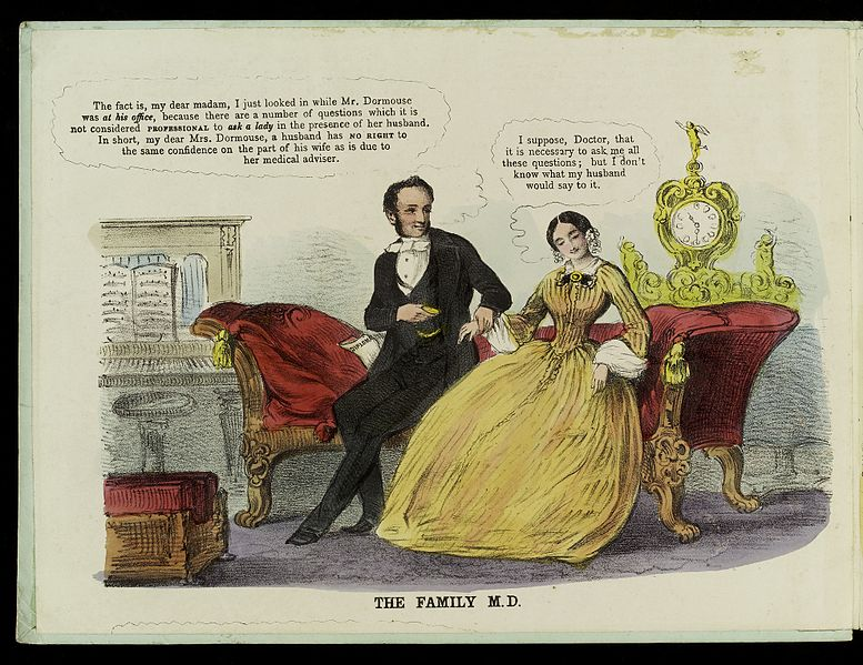 File:A physician trying to take advantage of a young woman patient Wellcome L0034919.jpg