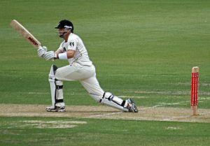Aaron Redmond - Image: Aaron Redmond batting, cropped