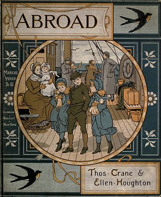 Thomas Crane (1843–1903) - Cover of Abroad (1882)