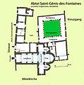 Abtei St-Génis-des-Fontaines, Grundriss .jpg