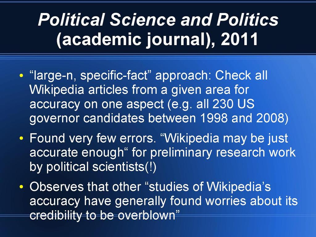 Academic studies about Wikipedia