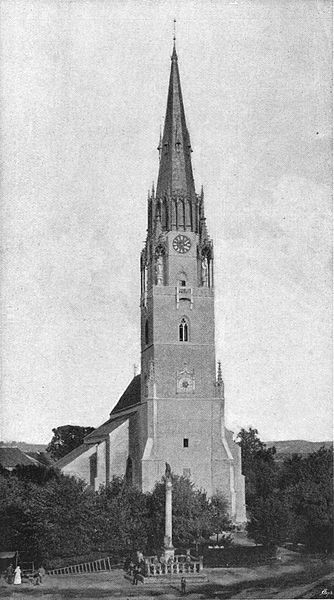 Súbor:Academy Architecture 1895 Tower of Iglo Church Hungary PROFESSOR IMRE STEINDL Architect Budapest.jpg