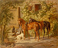 Adam, Albrecht - Horses at the Porch.jpg