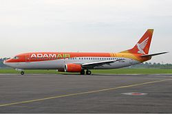 An Adam Air Boeing 737-400