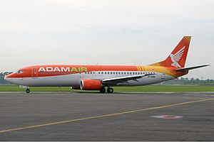 Adam Air Flight 574 - The similar 737-400 aircraft to the one involved the accident